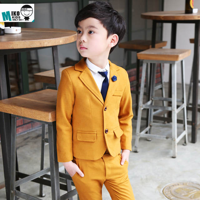 d82ddac0a776 Online Shop Orange child Prom Suits 2-10Years Old Baby Clothing Set ...