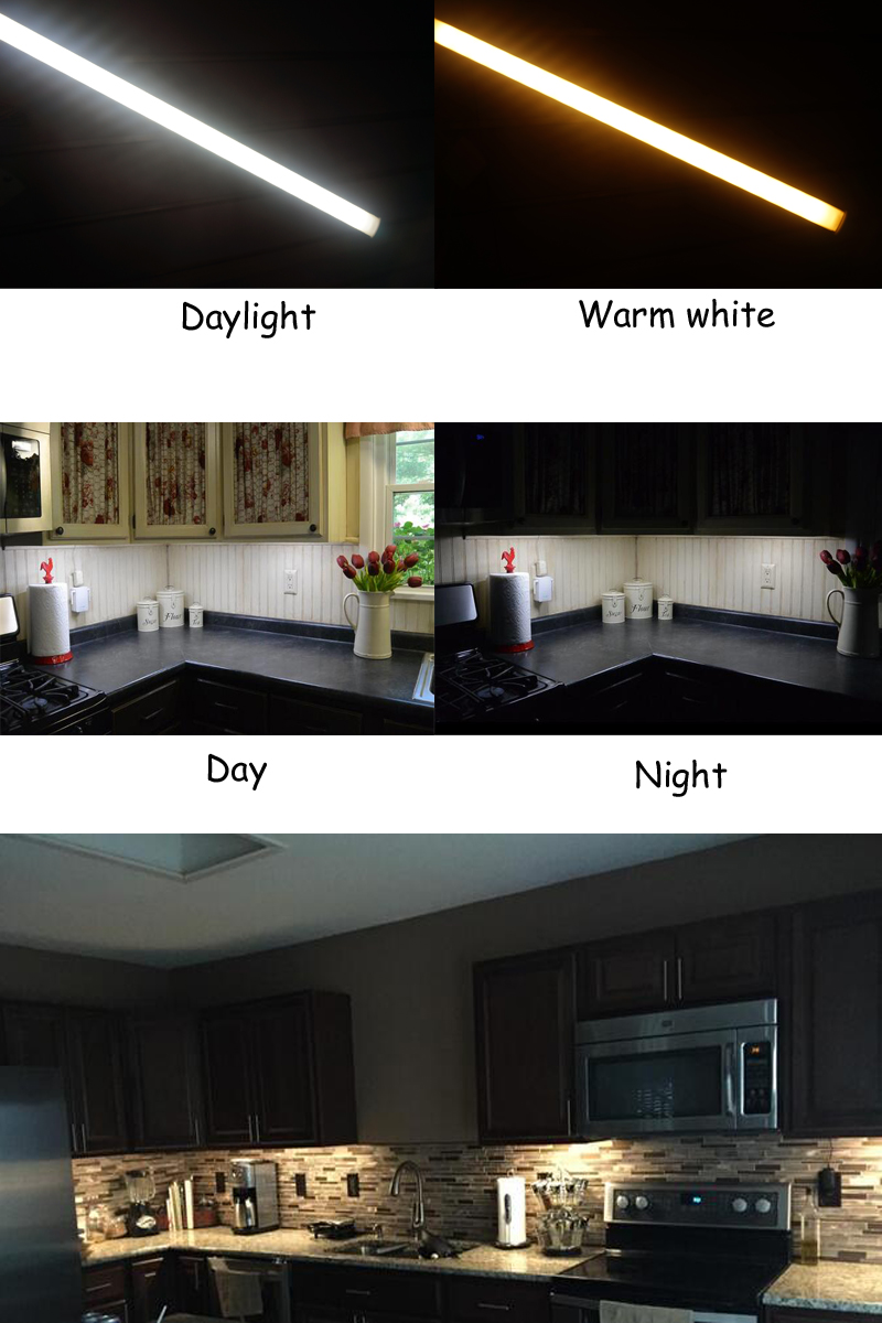 Us 27 33 Dimmable Led Kitchen Under Cabinet Rigid Strip Light 3x0 3m 0 5m 17w Led Rigid Bar Light Kit 12v Closet Wardrobe Led Bar Lamp In Led Bar