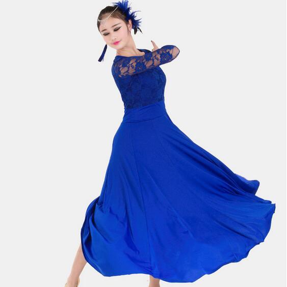 7 colors big wing blue ballroom dance dress for ballroom dancing waltz tango Spanish flamenco dress standard ballroom dress