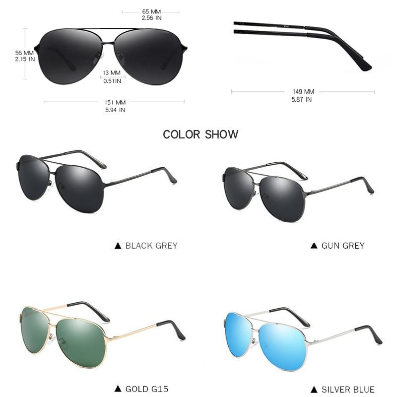 BENZEN polarizirane sunčane naočale za muškarce Vintage Pilot - Pribor za odjeću - Foto 4