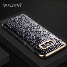 Sulada крокодил мягкий силиконовый Встроенная чехол для Samsung Galaxy S8/S8 плюс S8 + задняя крышка автомобильный держатель Магнитный Тонкий В виде ракушки