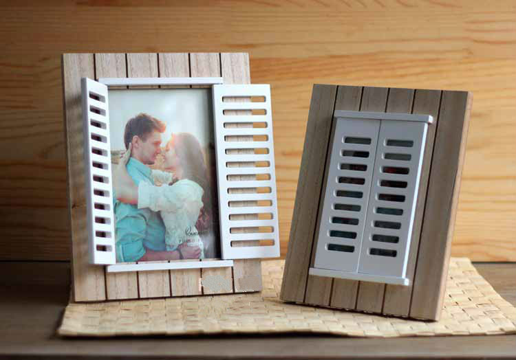 6inch vintage wooden white romantic window picture photo frame wedding decoration photo prop frame
