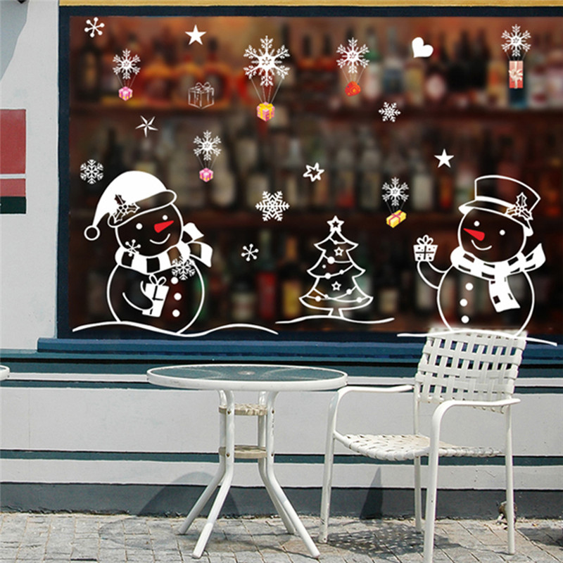 AIHOME Tree New Year Shop Window Wall Sticker Decorations