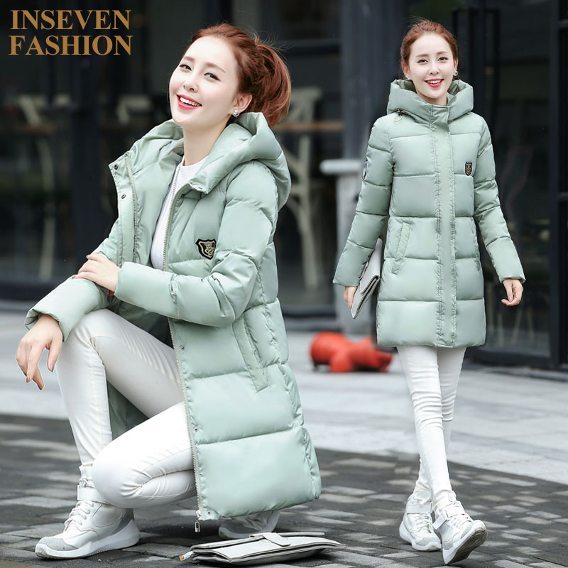2016 Winter Autumn New Arrival Slim Long Down Cotton Coat Women Fashion Parka Warm Hooded Quilted