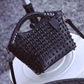 New Rivets Women Handbags Fashion All-match Shell Bags Lady Casual Shoulder Bag High Quality Pu Leather Female Messenger Bag