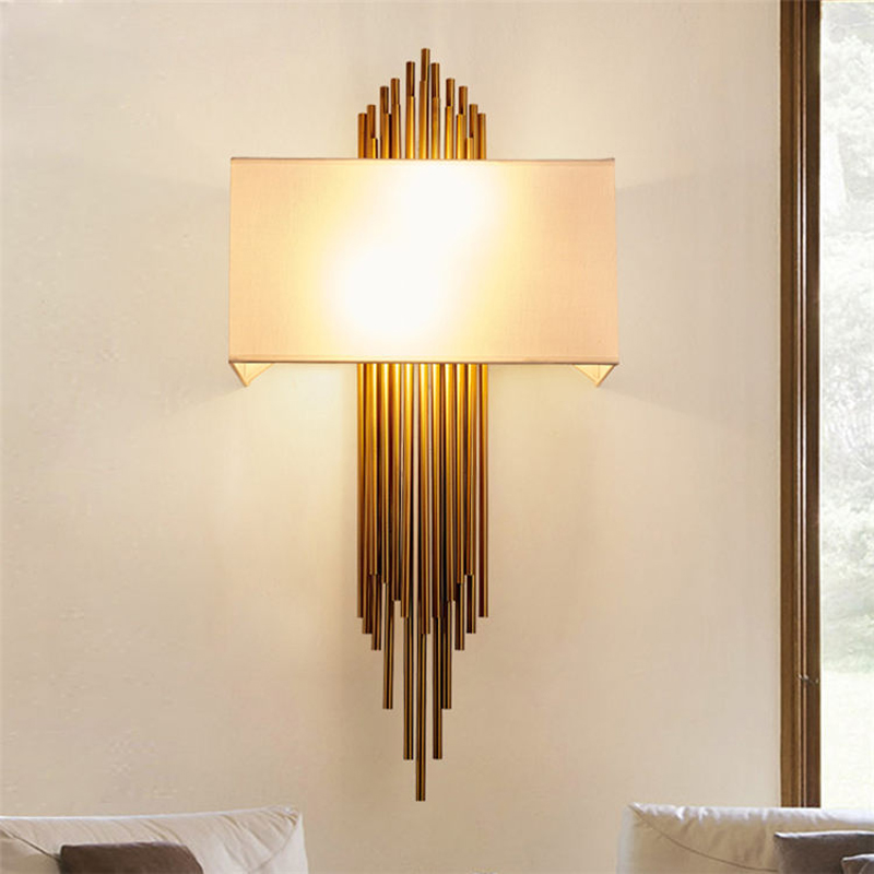Vintage Wall Sconce European Style Wall Lamp Gold Wall Light Fixture for Bed Room Bedside Wall Lamp Black Fabric Shade