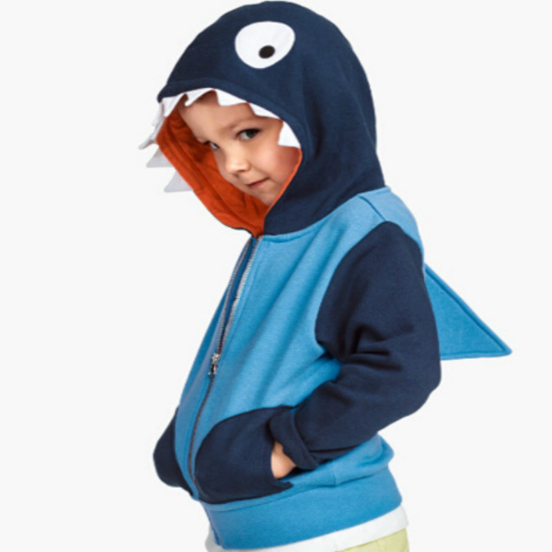 Boys Animal Hoodies Kids Spring Autumn Clothes Dinosaur Zipper Coat Children Fashion Sweatshirt 2-6 Years Baby boys Clothing 3
