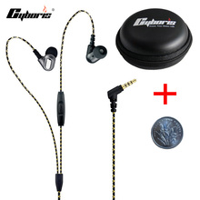 CYBORIS Sport Earphone Stereo earpiece with Storage box Noise Cancelling in-ear Headset with Mic for Xiaomi Huawei Samsung mp3