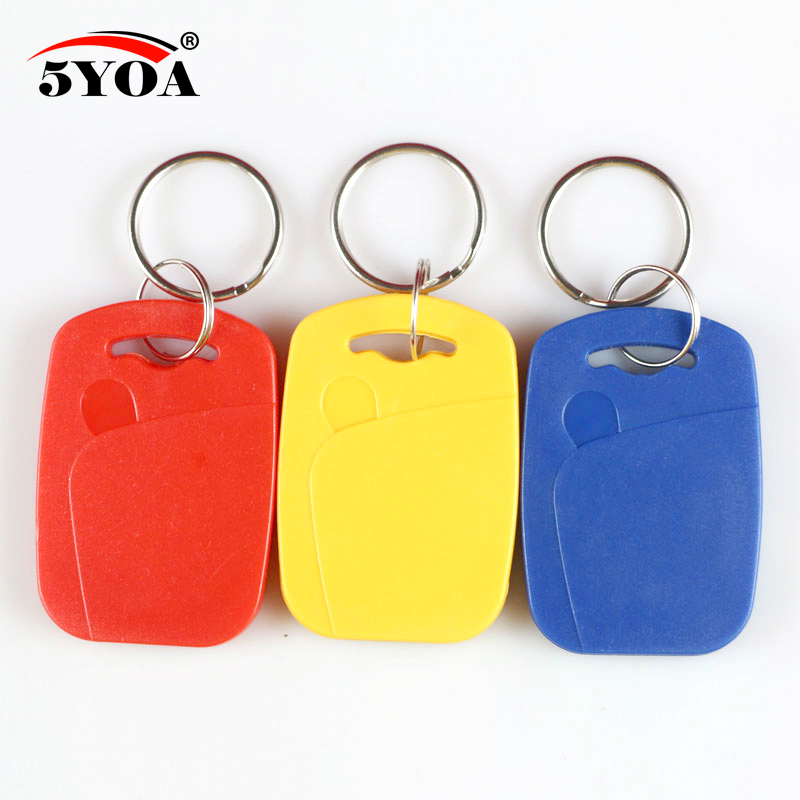 5pcs IC+ID UID 13.56MHZ Changeable Writable Rewritable Composite Key Tags Keyfob Dual Chip Frequency + RFID 125KHZ T5577 EM4305