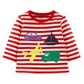Newest Boys T-shirt Kids Tees Baby Boy tshirts Children blouses Lovely Design Long Sleeve 100% Cotton Stripes Stars