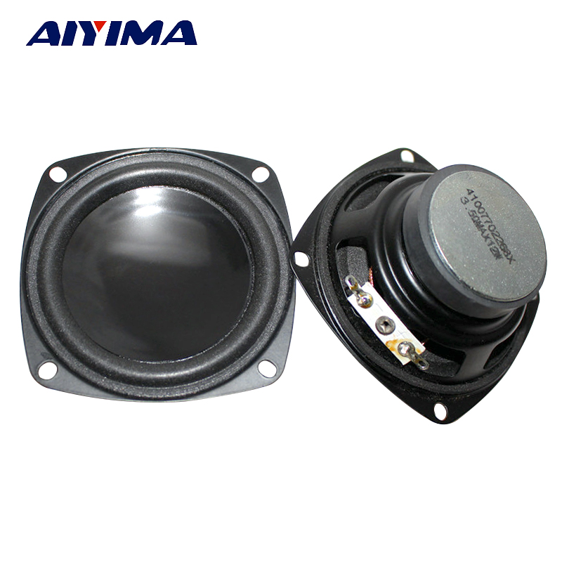 AIYIMA 2Pcs 3Inch Audio Portable Speakers 4Ohm 5W Full Range Speaker DIY Home Theater System Accessories