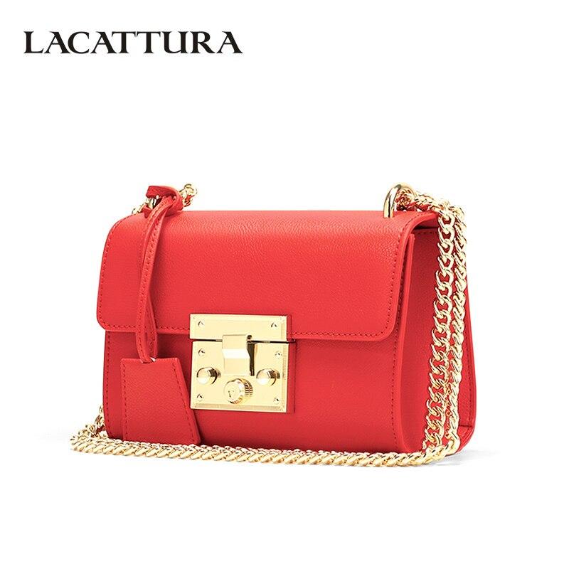 LACATTURA Small Women Bags Luxury Leather Messenger Bag Clutch Bags Designer Mini Shoulder Bag Womens Handbag