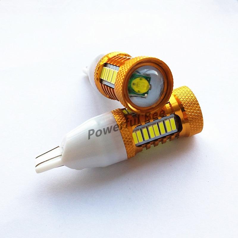 2 x Т15/18ВТ лампы w16w золотой алюминиевый LED огни заднего хода свет 700lm супер белый автомобиль стоп хвост свет лампы, бесплатная доставка