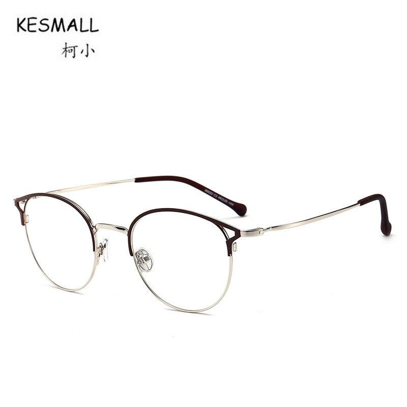 7eda5020a6f KESMALL Newest Alloy Glasses Frame High Quality Clear Lens Eyewear Men  Women Gold Color Eyeglasses Frames Marco De Lentes XN561