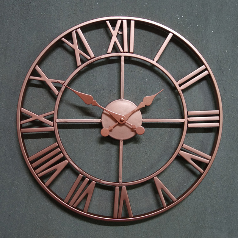 KAYIYO Retro Iron Wall Decoration Watch LOFT Home Decoration Wall Clock With Number Silent Decorative Wall Clock For Bar