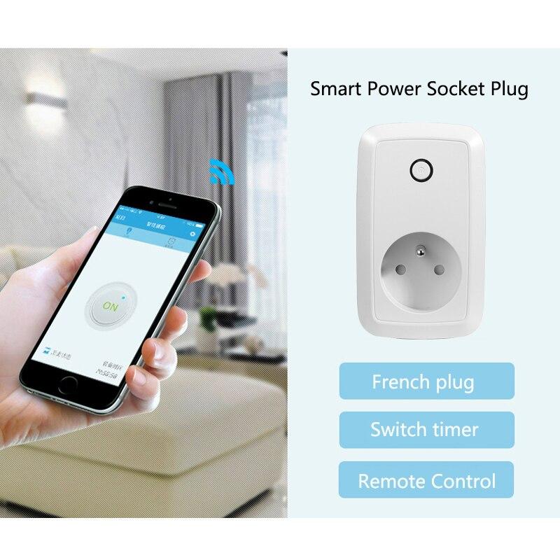 Casa inteligente de control remoto Inalámbrico interruptor de toma de enchufe te
