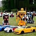 RC Carros de Controle Remoto de Robôs Transformação Transformar Brinquedo Som Luz Dança Carro Elétrico Modelos de Ação Presente de Aniversário Brinquedo do Menino