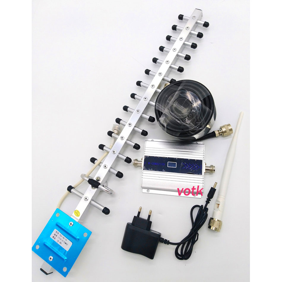 3g signal repeater handy 3g signal booster, WCDMA 2100 mhz 3g signal verstärker mit 18dbi 3g yagi 50ohm kabel