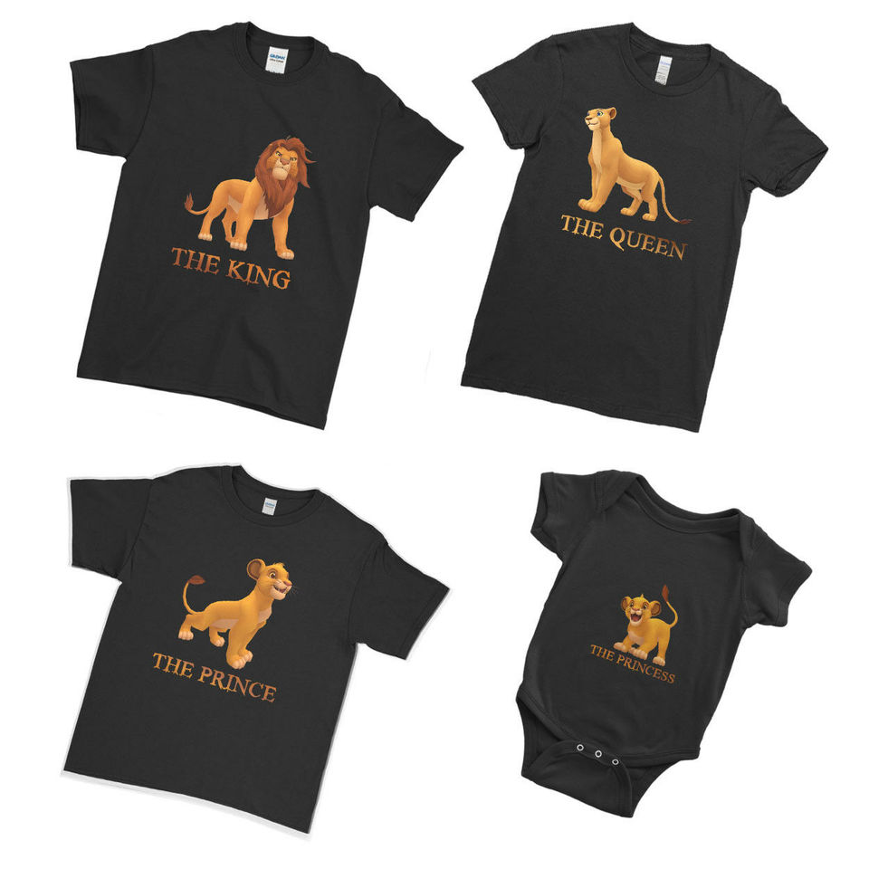 Queen and  Princess has arrived family matching T-shirts and baby grow set King