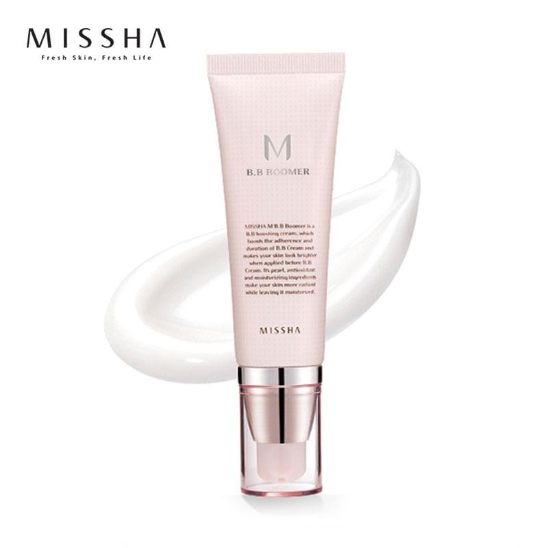 MISSHA M BB Boomer base Primer 40 ml funda perfecta BB crema corrector nutritiva Original Corea cosméticos antes BB crema