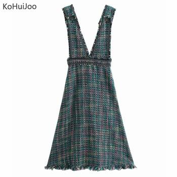 1c7fe20d9 KoHuiJoo negro blanco de verano de las señoras chaqueta de las mujeres V  cuello manga corta diseño ...