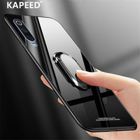 Glas Telefoon Case voor Samsung Galaxy A50 A70 Luxe Gehard Glas Spiegel Magneet Ring Back Cover Cases Voor Samsung A30 a50 Fundas