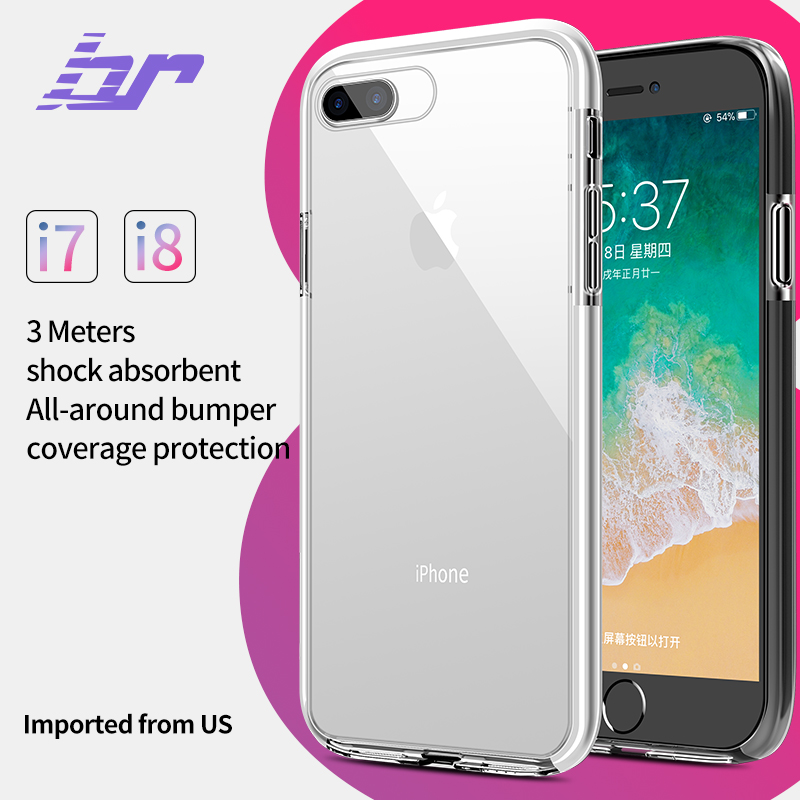 BR Armor Case for iPhone 7 8 Plus X Army Drop Standard Shockproof Cover Cases For iPhone 8 7 Plus X Soft TPU TPE Anti-knock Back