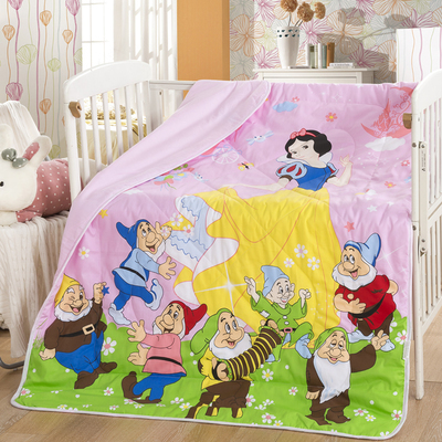 Promotion! Cartoon Mickey Kitty baby quilt lovely cartoon baby bedding for newborn baby girl boy cot quilt,150*120cm