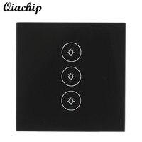 QIACHIP EU Plug 3 Gang 1 Way WiFi Wireless Smart Home APP Control Touch Switch Work