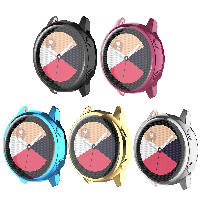 أحدث هذه للجنسين العرق واقية ساعة ذكية حالة مطلي شامل واقية حقيبة لهاتف سامسونج غالاكسي ووتش نشط SM-R500