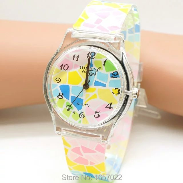New Arrived Promotion Children Fashion Colorful Waterproof Quartz Wristwatch Women Casual Cute Sports Watches