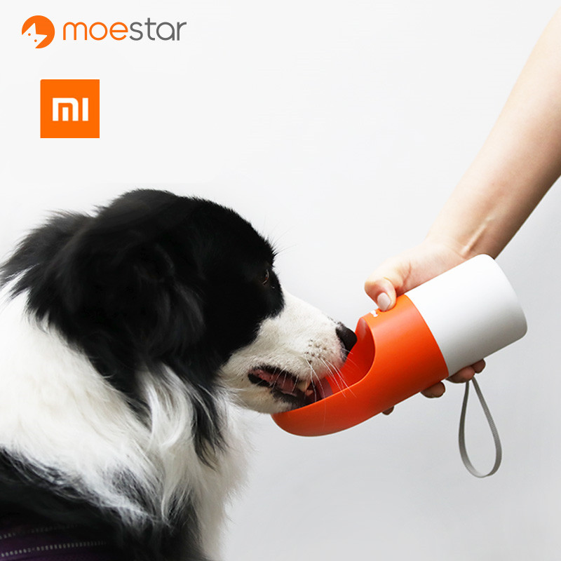 XIAOMI Mijia MOESTAR ROCKET 270ML Portable Dog Water Bottle Fashion Pet Dog Travel Water Bottle Dispenser