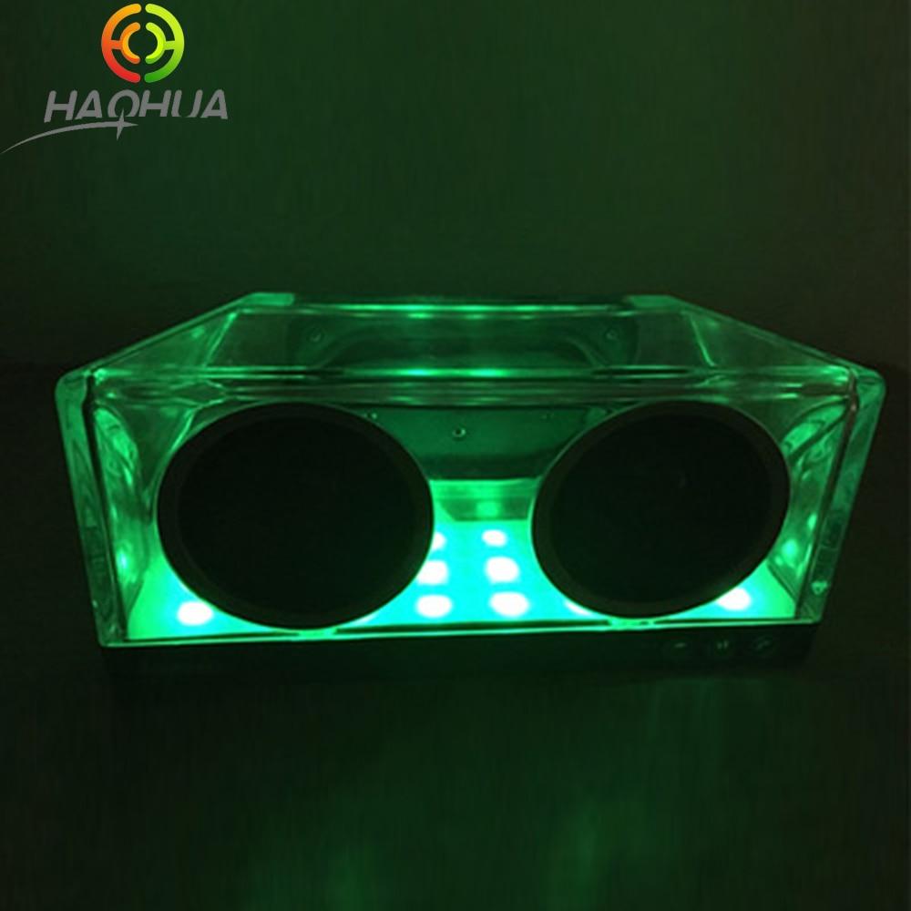 Fashion HiFi Crystal Transparent Bluetooth Speaker 10W Waterproof Wireless Bluetooth Loudspeaker Colorful LED Breath Light