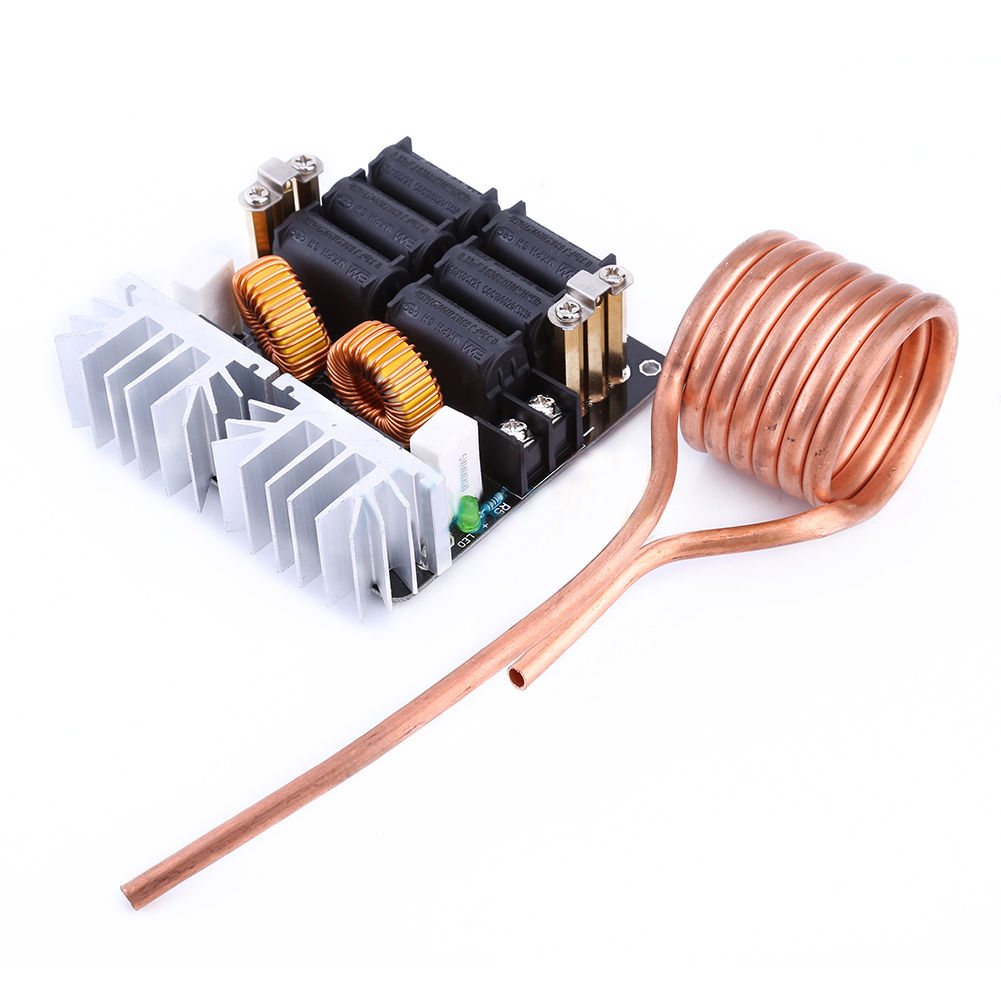 New 1000W ZVS Low Voltage Induction Heating Board Module/Tesla coil 12-48V 20A zvs high frequency induction heating 1800w high frequency machine without tap zvs