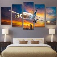 HD 5 unidades lienzo Impreso avión room decor wall art Pintura Lienzo imprimir póster enmarcado pintura Envío Libre/ny-6149B