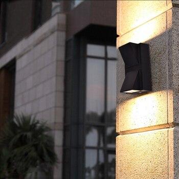 up down 6w 10w led cob wall fixture light outdoor indoor lamp waterproof ip65 bedroom balcony Up/Down 6W LED Wall Sconce Light Waterproof Outdoor Lamp Fixture Balcony Walkway Gate Garden