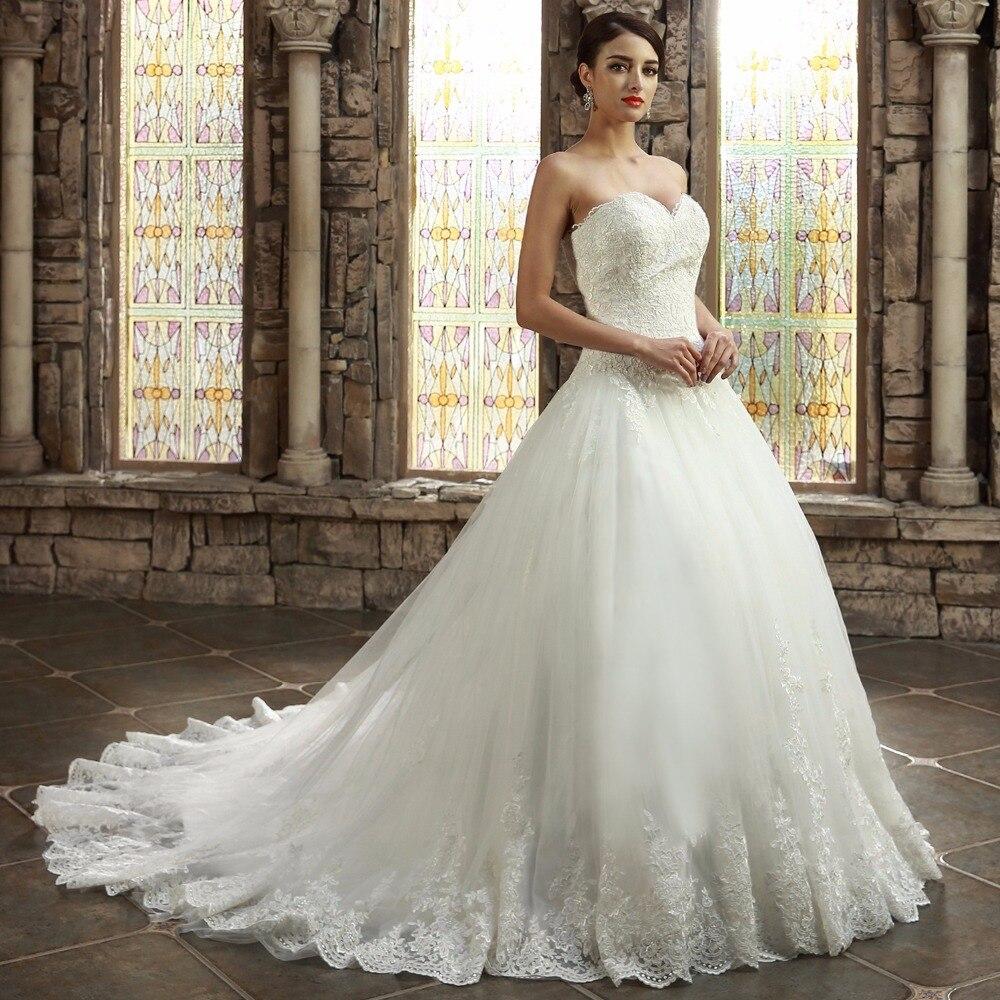 Wedding Gown Warehouse: Aliexpress.com : Buy A Line Sweetheart Long Train Lace