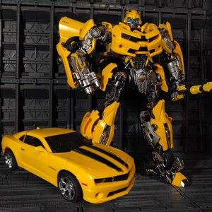 Image 1 - WJ Transformation MPM 03 MPM03 MPM 03 film dabeille jaune surdimensionné 28CM Version alliage Collection figurine Robot jouets cadeaux