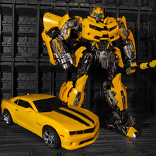 WJ transformación MPM 03 MPM03 MPM 03 abeja amarilla película Oversize 28CM aleación versión colección acción figura Robot juguetes regalos