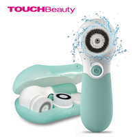 TOUCHBeauty Waterproof Facial Brush Deep Cleansing Set with 3 Different Spin Brush Head,two speed face cleansing device TB 14838