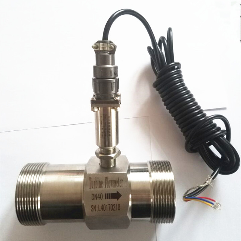 PLC water flow meter diesel flowmeter liquid turbine flow meter sensor transmitter lwgy-40 threaded connection 1