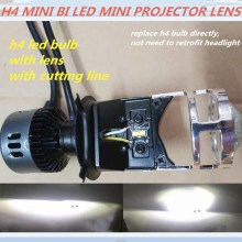 DLAND OWN SMART MINI H4 EASY INSTALLATION BI LED PROJECTOR LENS KIT, SMALL SIZE 35W POWER BULB LAMP WITH EXCELLENT BEAM