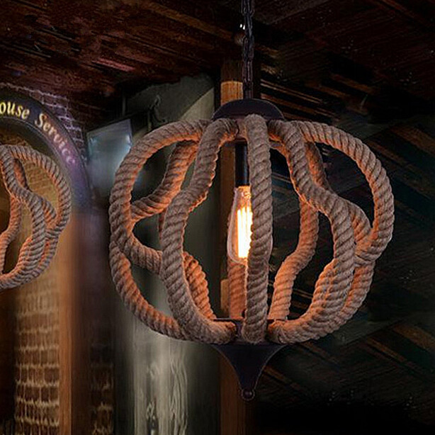 Northern Europe American Rural Countryside Iron Rope Chandelier Study Bar Restaurant Cafe Industrial Retro Lamp Free Shipping simple post modernity iron restaurant bar cafe originality personality northern europe annular hall chandelier freeshipping