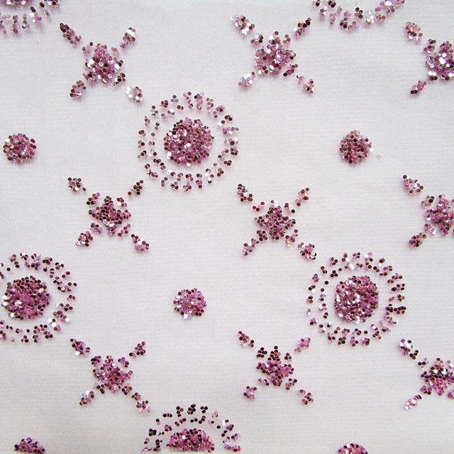 fashion new suns and stars purple sequins mesh fabric french glued printing net  fabric shining dancewear cloth 360cm 145cm e39eb6eaf47d
