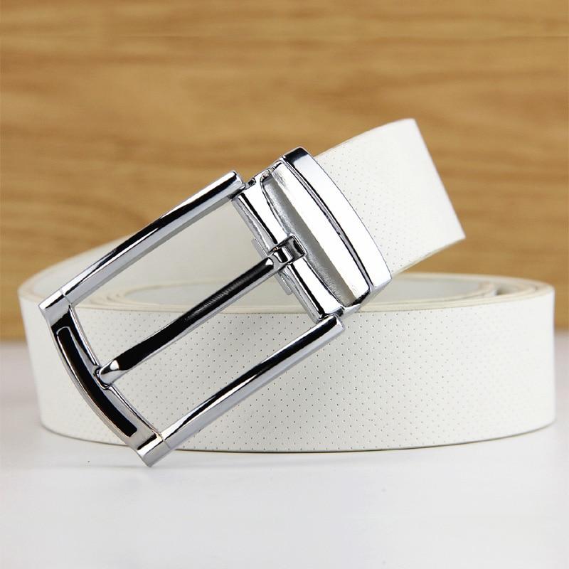 La mode loisirs ceinture en cuir pour hommes et femmes général haute-grade alliage agio contracté joker blanc ceinture