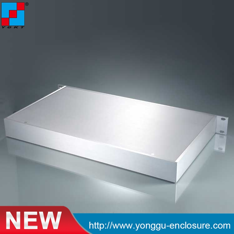 High quality AL6063 482 44 5 250mm 19 39 1U hard Aluminum instrument industry case with flat electronic cabinet in Connectors from Lights amp Lighting