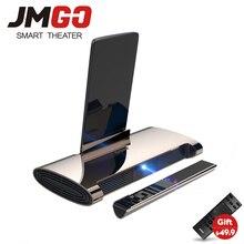 JMGO M6, Android 7,0, мини-проектор, 200 ANSI люмен, проектор для домашнего кинотеатра. Поддержка 1080 P, 4 k видео, батарея 5400 mAh, лазерная ручка