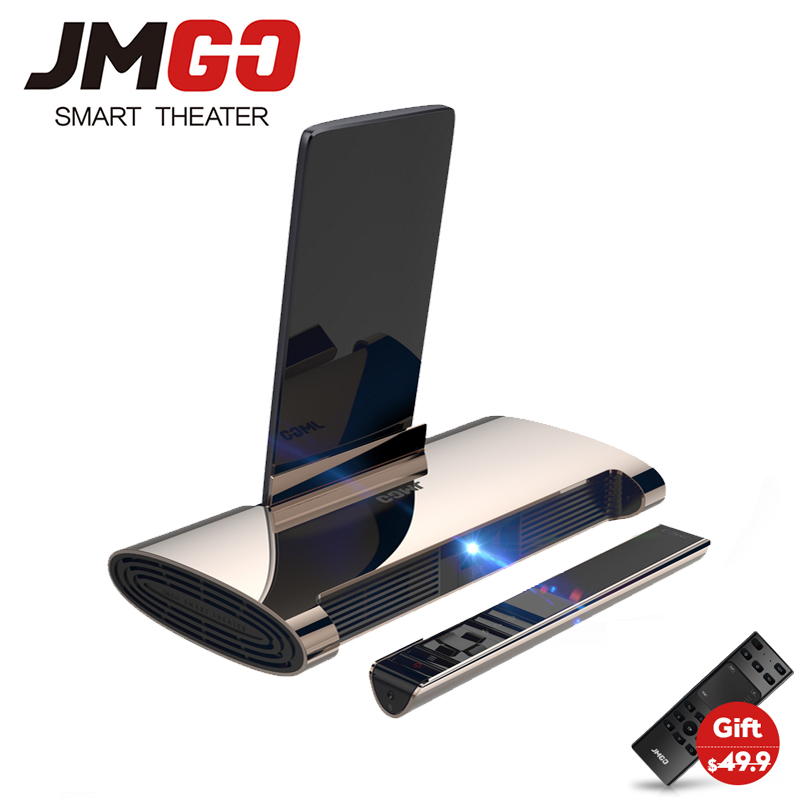 JMGO M6, Android 7.0, Mini Projector, 200 ANSI Lumens, Home Theater Projector. Support 1080P,4k Video, 5400mAh battery,Laser Pen
