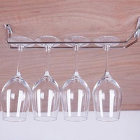 1Pcs Wine Cup Wine Glass Holder Chrome Plated Hanging Drinking Glasses Rack Kitchen Storage Organizer For