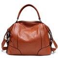 De lujo de la Marca Mujeres de Cuero Genuino bolso de gran capacidad de bolsa de Diseñador De Alta Calidad Bolsos de Hombro Del Totalizador de Crossbody